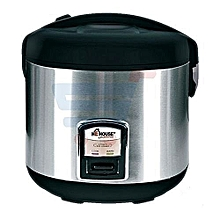 Rice Cooker 2L - Silver and Black.