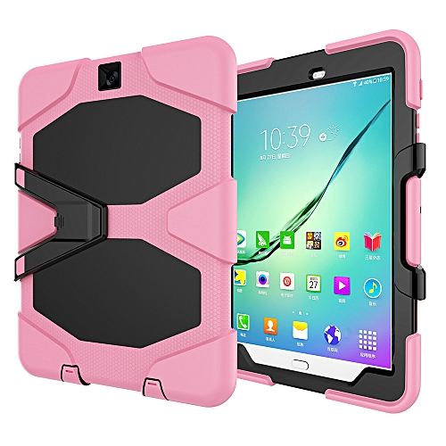 more photos c4484 93700 Samsung Galaxy Tab S2 9.7 Case Three Layer Shockproof Heavy Duty Soft  Silicone TPU PC Case with Stand Kickstand Cover for Samsung Galaxy Tab S2  9.7 ...
