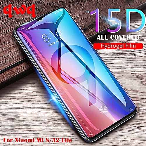 15D Full Protective Hydrogel Film For Xiaomi Redmi Note 7 6 Pro Screen  Protector For Xiaomi Mi 9 A2 8 Lite SE A1 5X 6X Not Glass LBQ
