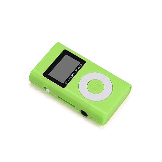 USB Mini MP3 Player LCD Screen Support 32GB Micro SD TF Card Red .