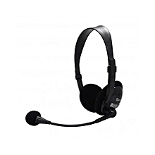 HS-355 - Headphone With Mic - Black