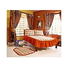 4Pc - Quilted Cartoon Bedcover Set - 3 x 6 - Orange