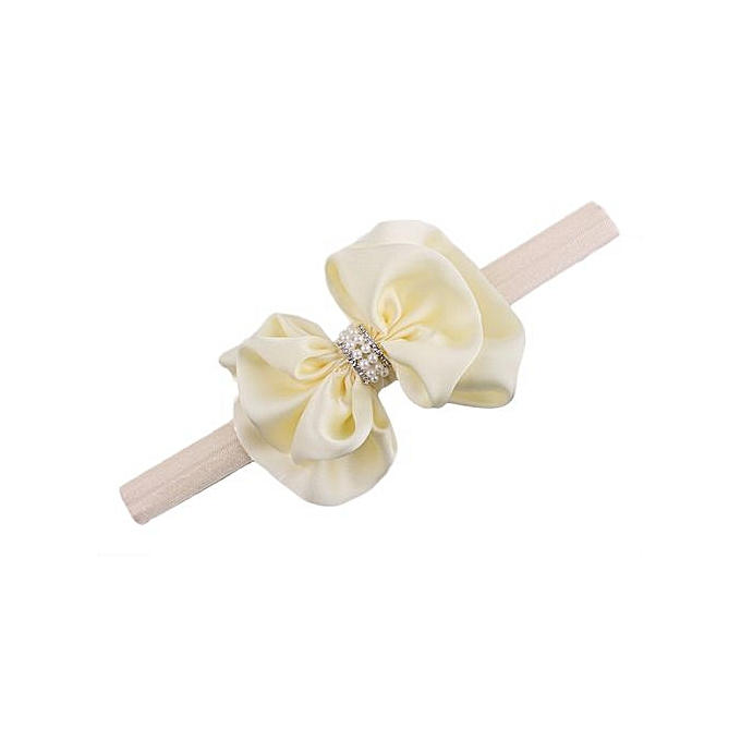 60c6db9f999 Braveayong Girls Diamonds Headbands Bowknot Hair Accessories For Girls  Infant Hair Band - Beige