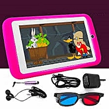 "K89 Kids Tablet - 7"" - 2.0MP Rear - 1.3MP Front - 1GB RAM - 16GB - Android - Pink"