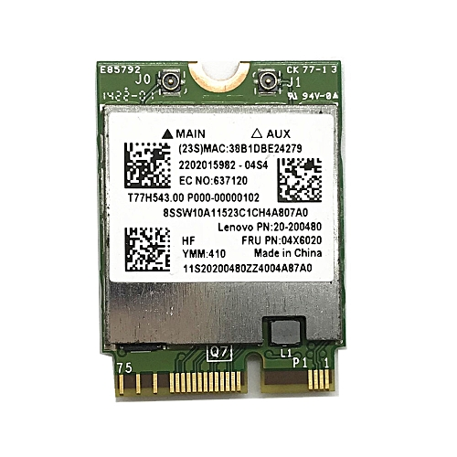 BCM94352Z Dual band Wireless-AC NGFF 802 11ac 867Mbps WIFI Bluetooth BT 4 0  Card For Lenovo/Thinkpad 04X6020( )
