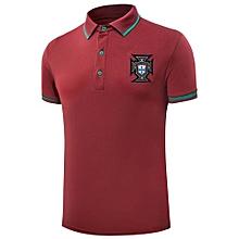 2018 Sports Soccer Polo Shirt Summer New World Cup Portugal Team Navy Blue T-shirt(Polo-3)