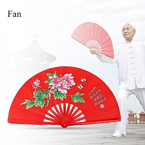 Bamboo Silk Fan For Tai Chi Martial Arts Kung Fu Right Hand Wushu Dance  Pratice Training