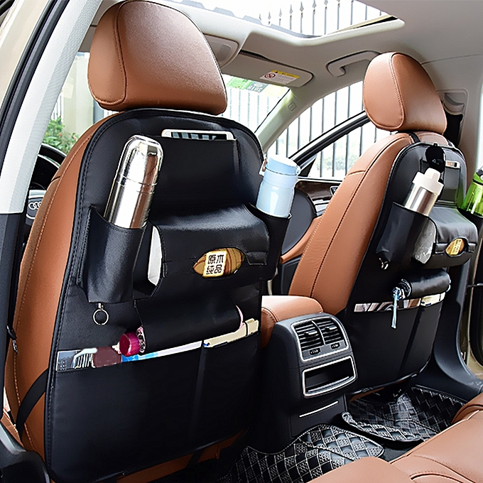 Auto Car Seat Back Organizer Hanging Bag Storage For Drinks Umbrellas And Napkin Bags