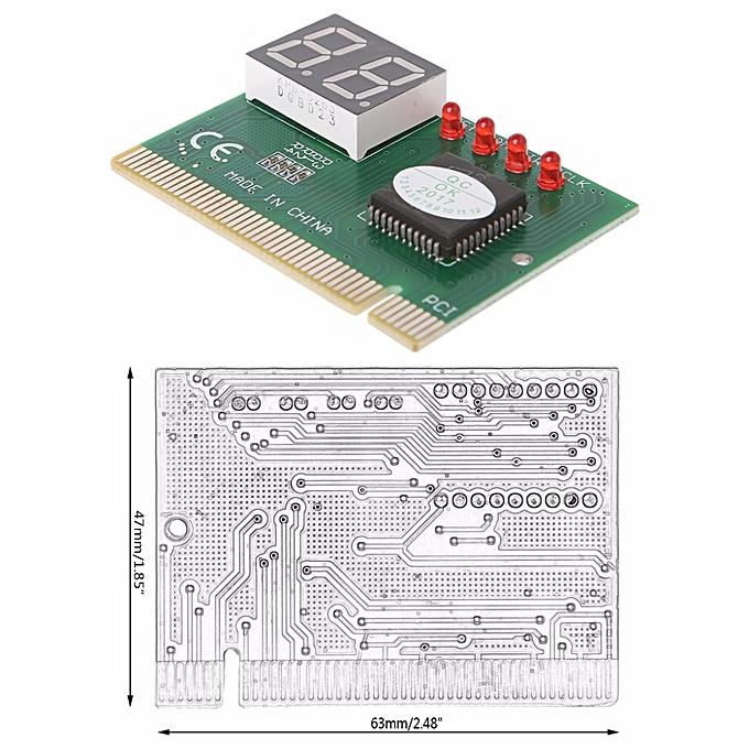 2-Digit Code PCI Card Motherboard Analyzer Diagnostic Post Tester For  Laptop Computer PC Diagnostic Card C26