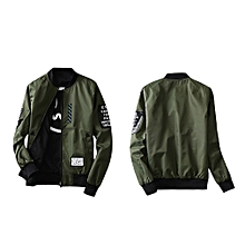 Wind Breaker Men Jacket With Patches Both Side Wear Thin Bomber Jacket Coat