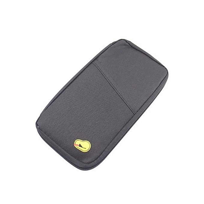 bluerdream-Travel Multifunction Bag Pouch Passport ID Credit Card Wallet Cash  Holder Case - Black e38a69fc06be