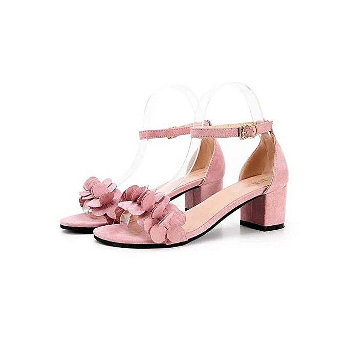 Fashion Bliccol High Heel Shoes Womens Ladies Block High Heel