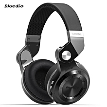 Bluedio T2+ Foldable Style Bluetooth V4.1 +EDR Wireless Stereo Headset Support TF Card with Mic BDZ Mall