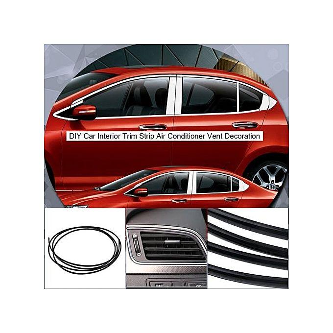 generic u style 6mm 3m diy car interior trim strip air conditioner vent decoration buy online. Black Bedroom Furniture Sets. Home Design Ideas