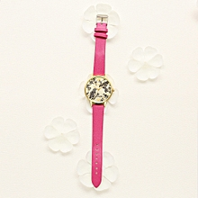guoaivo LVPAI Watches Women Quartz Wristwatch Clock Ladies Dress Gift Watches -Hot Pink
