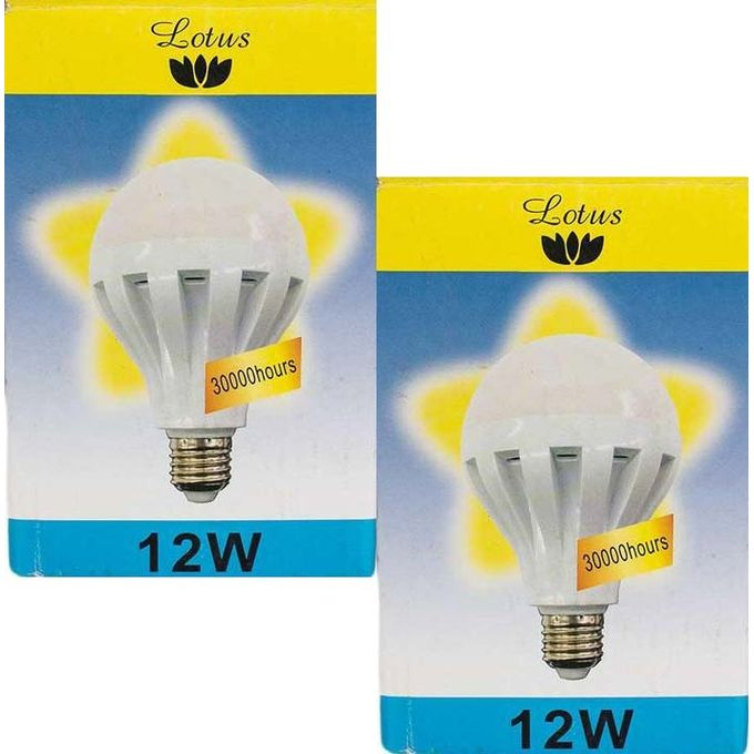 Lotus 2 Pack Led Bulb 12w E27 Day Light Buy Online Jumia Kenya