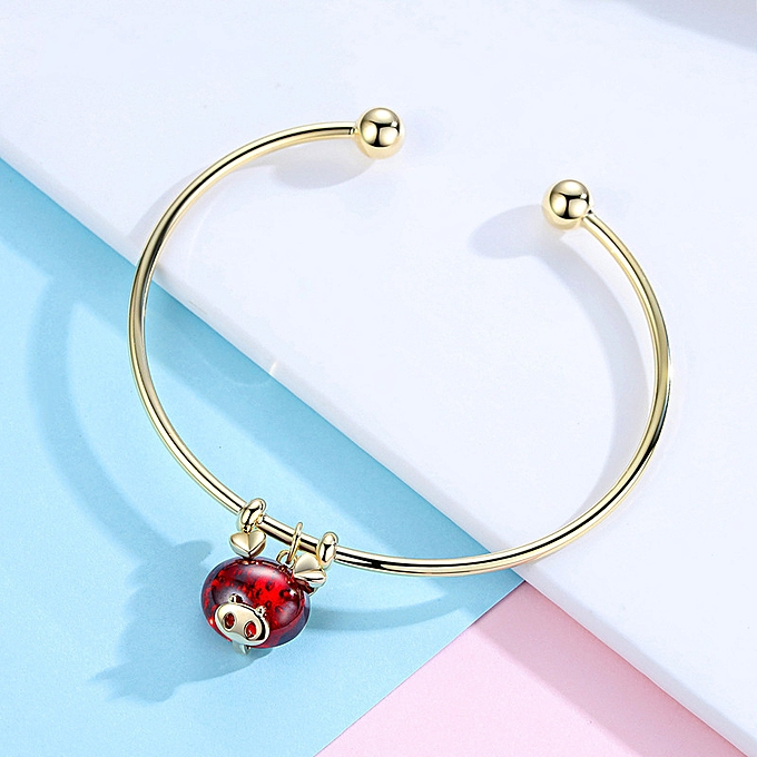 Little gold pig Chinese Zodiac Sign originally the life year red mourn to  fall to bracelet a female net red personality hand wreath tide hand