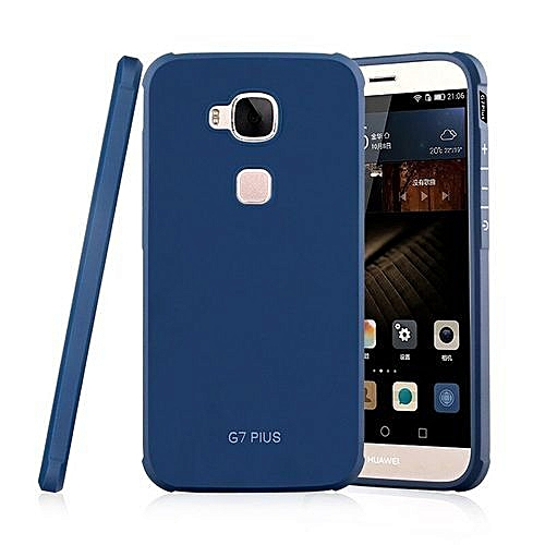 online store 0ed98 c5d68 Hard Protector Back Cover Silicone Neo Hybrid Case For Huawei G8 D199  Maimang 4 Phone Bag Cover For Huawei G7 Plus Shell(Blue-1)