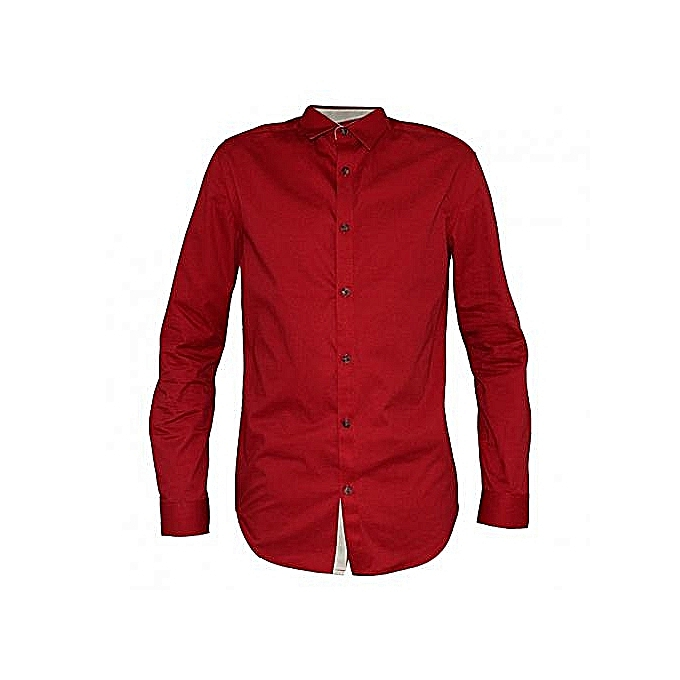 Official Shirt For Men,  100% Cotton - Red