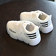 bluerdream-Toddler Kids Sport Running Baby Shoes Boys Girls LED Luminous Shoes Sneakers? - White