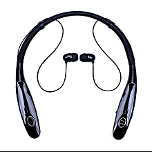 Bluetooth Headphones 14Hr Working Time, Truck Driver Bluetooth Headset, Wireless Magnetic Neckband Earphones, Noise Cancelling Earbuds with Mic(Black)