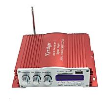 Kentiger 2008 Power Failure Memory Function IR Control FM MP3 USB Power Amplifier-RED