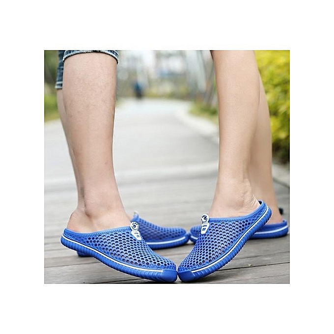 65c624e736ac Colour Sky Blue Women And Men Summer Crocs Beach Sandals Hollow Shoes  Travel Outdoor