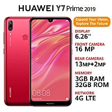 "Y7 Prime (2019) - 6.26"" - 4000mAh - 32GB ROM - 3GB RAM - (Dual) - Coral Red"
