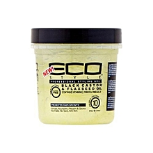 Eco Style Black Castor and Flaxseed Oil styling gel 473ml/16oz