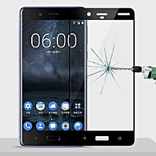 MOFI For Nokia 8 Full Screen 9H Hardness 2.5D Explosion-proof Tempered Glass Screen Film(Black)