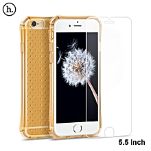 Armor Explosion-proof Phone Shell With High Definition Screen Protector For IPhone 6 Plus / 6S Plus - Golden