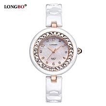 6127A Women's Wristwatches Crystals Ceramic Quartz Watches Fashion Girls Dress Clock Women Watch Famous Luxury Brands - Rose Gold