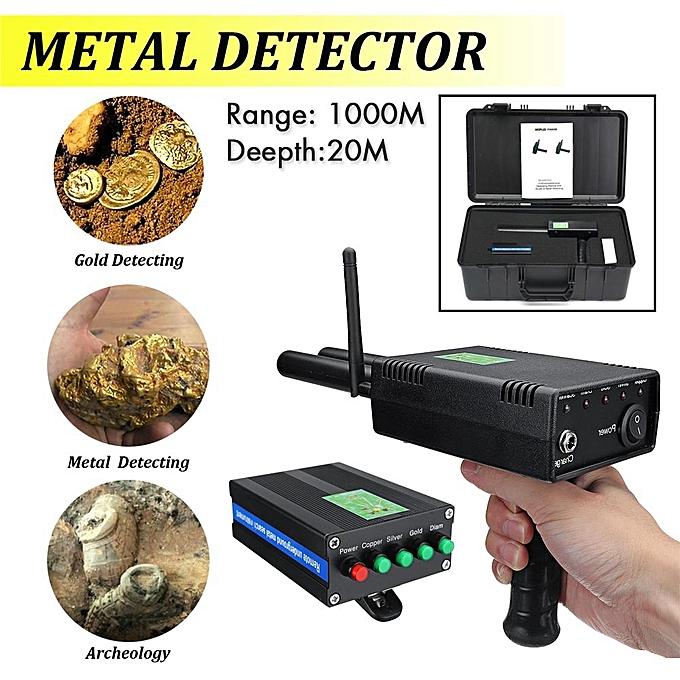 AKS PLUS Handhold Antenna Metal Gold Detector Locator Scanner Dual Probe  1000M
