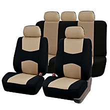 OR Front Rear Universal Car Seat Covers Auto Vehicles Accessories Beige