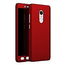 Ultra Thin Full Body Coverage Protection Soft PC Dual Layer Slim Fit Case with Tempered Glass Screen Protector for Xiaomi Redmi Note 4   XXZ-Z