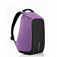 Anti-theft USB Charging Port laptop Backpack -purple
