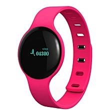 Smart Wristband Pedometer Bluetooth Bracelet Sports Fitness Tracker Smartband Waterproof For Iphone Android Phone Red