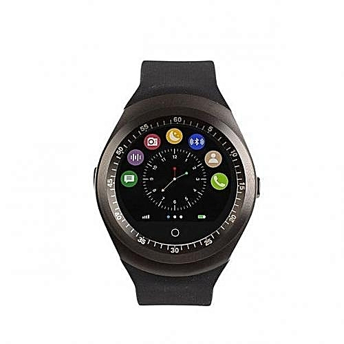 Y10 Touch Screen Smart Watch Phone with SIM Slot - Black