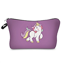 Portable Unicorn Print Cosmetic Bag # 5 - Violet