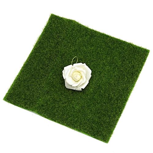 12'' Artificial Moss Mat Green Sheet Grass Train Craft Fairy For Decor  Garden