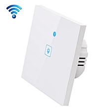 WS-EU-01 EWeLink APP & Touch Control 2A 1 Gang 1 Way Tempered Glass Panel Smart Wall Switch, AC 90V-250V, EU Plug