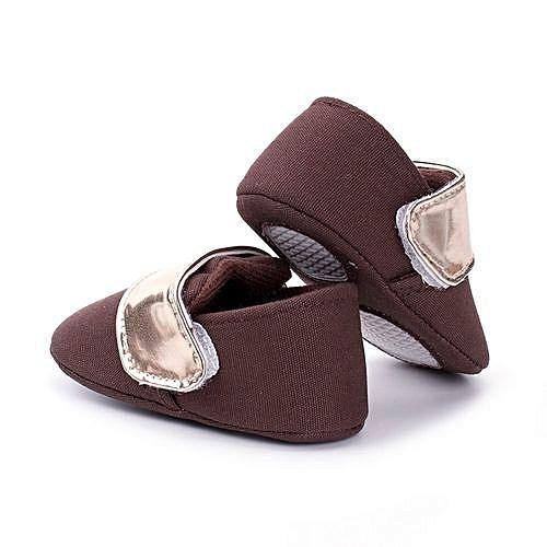 09a2ee3b8a21 YiQu bluerdream-Newborn Girls Boys Crib Shoes Soft Sole Anti-slip Baby  Sneakers Prewalker Shoes- Coffee