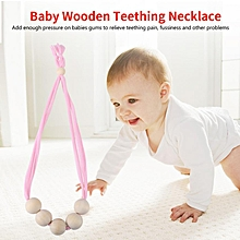 2PCS Safe Baby Wooden Chewing Teether Teething Nursing Mom Breastfeeding Necklace