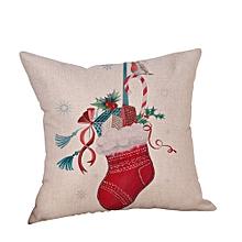 Christmas Car Linen Cushion Cover Throw Pillow Case Sofa Bed Home Decor