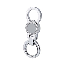 High-grade Men Alloy Key Ring Business Use Black/silve with Two Split Rings
