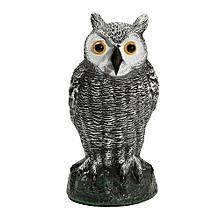 New Fake Standing Owl Hunting Shooting Decoy Deterrent Repeller Garden Decor NEW