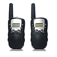 2PCS/Pack T-338 Mini Kids Interphones Portable Hand-held Child Walkie-Talkies-Black