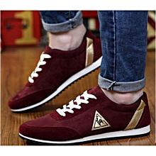 Maroon Rubber Shoes With White Sole
