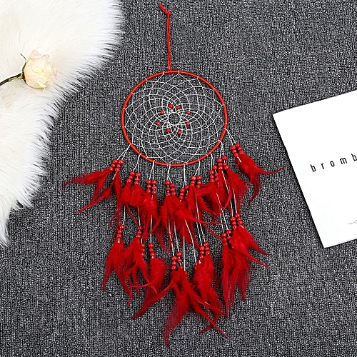 Allwin Tassel Catching Monternet Large Red Dream Catcher Creative Feathers Home Decor Best Price