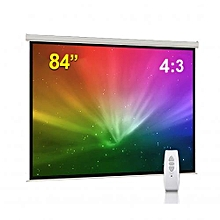 """Electric Wall - Mount Projection Screen - 84"""" - White"""